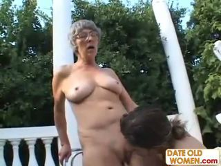 ouder porno, grootmoeder, oma