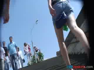 I spied the vroče črno panty up the krilo