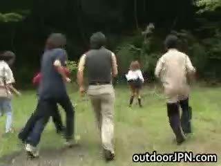 güzel japon, ırklararası ücretsiz, kamu
