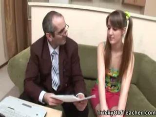 Voluptuous Teen Student Receives Creamed By Her TeaCher