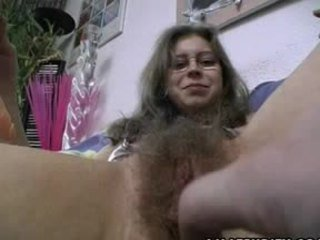 Hairy Amateur gets Trimmed and Shaved