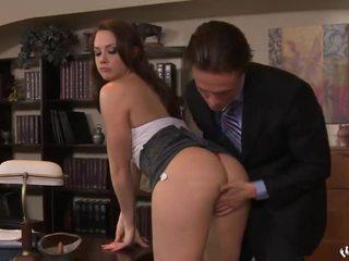 groot likken scène, meest pijpbeurt seks, nominale kantoor neuken