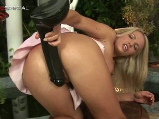 White Haired Nasty Babe Working Onto The Hot
