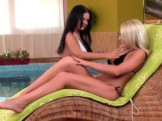 new brunette most, melons any, lesbians