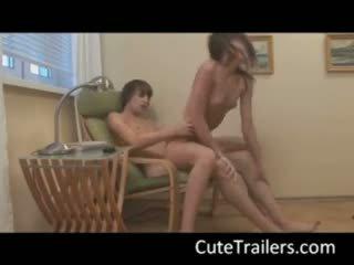 Ivana Fukalot - Russian teenagers make love on a chair