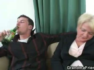 Two buddies pick up drunk granny