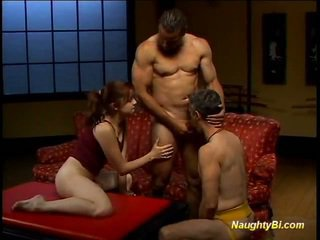 Latin Doll Shares Joystick Not Far From Bisexuals