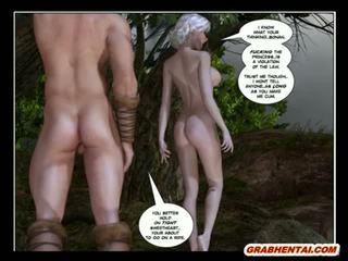 3D Hentai Bonan Princess Gets Sucked His Balls Cock