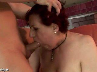 מאוד שמן סבתא getting מזוין קשה