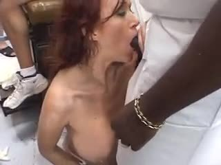 Gangbang creampie slut part2
