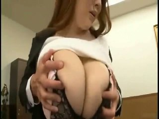 Massive tits Japanese gets fondled