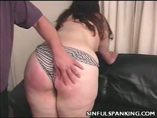 Fat Chick Ass Spanked