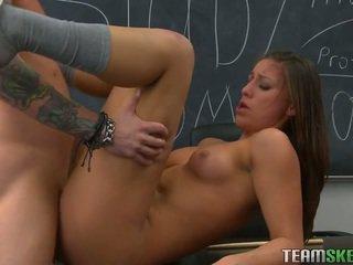 Fuck me and cum on my pussy, teacher