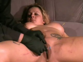 Ginas amateur needle torture and facial piercing