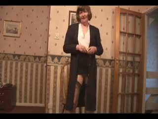 groot oma klem, solo actie, upskirt