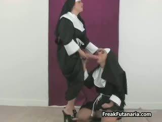 lesbiană, uniform, fetiș, pule mari