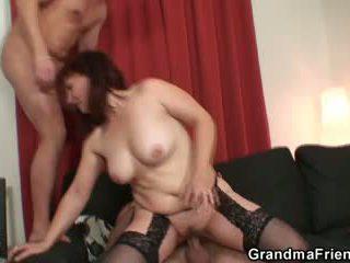 full old, quality 3some, grandma porno