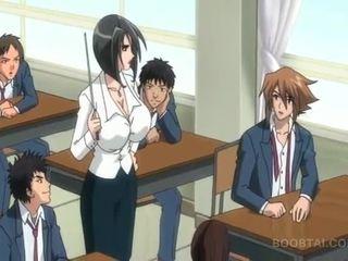 estudiante, japonés, dibujos animados