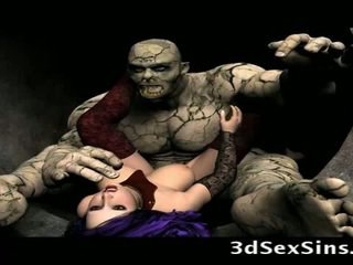 Scary ogres bang 3d holky!
