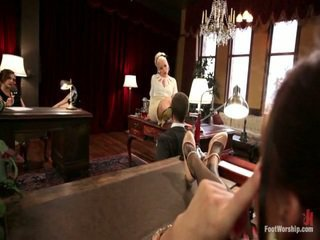 The Foot Fetishists Dream Come True Foot Domination, Classic Nylons, Sweaty Foot Sniffing, Foot Fetish Sex And 30 Toes!