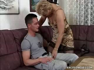 A chick guy finds himself in the lucky position getting offered a round of aged cunt in the middle of the day. While ge
