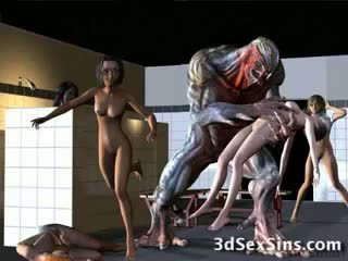 Aliens bang 3d holky!