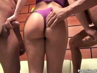 kwaliteit grote lul kanaal, 3some, meer cum in de mond actie