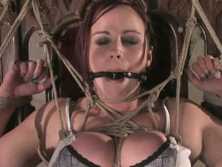 Bella Rossi S Huge Natural Tits Get Tied And Wired