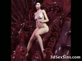 Monsters 정액 에 3d 아가씨! 비디오