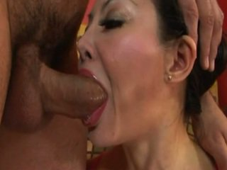 Asian milf gets ass and mouth drilled