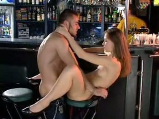 Euro girl gets fucked in front of visitors