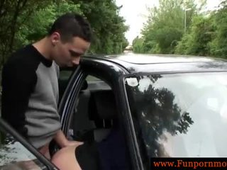 Hot amateur german fucking hard in the car