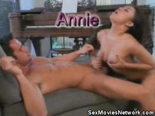 Annie Cruz Sits Onto And Toys That Pisser