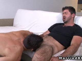 Married Fellow Acquires Sexy Gay Blowjob
