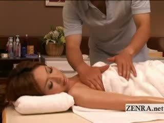Eşiksiz tan ýaglanan up ýapon betje eje has erotic massaž