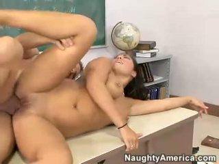 London Keys Getting Her Pussy Drilled On The Top Of The Desk