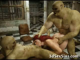 3D Zombies Fuck A Busty Girl!