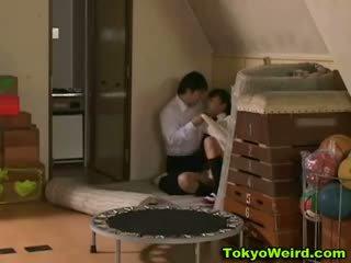 Asiatico studentessa scopata difficile