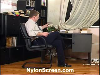Elvira And Peter Astonishing Stockings Video Action