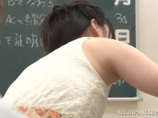 Erotic Yui Igawa Has Bumped In A Classroom By Her Instructor