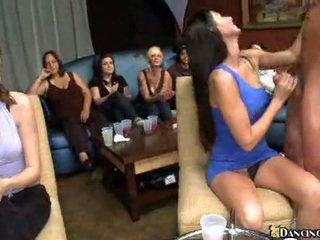 brunette, fun, dance porn