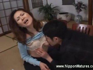 japoński, stary, ustny, babunia