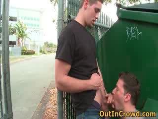 Hot hetero men get outed in public
