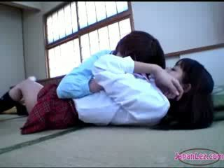 een schattig, zien japanse thumbnail, lesbiennes
