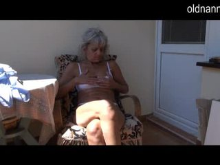 Naughty older Granny masturbating with toy Video