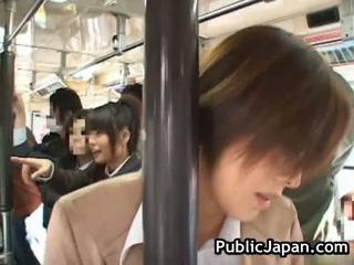 Asian Babe Has Public Porn Inside Train
