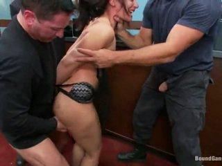 Sheena ryder has throat fucked oleh bank robbers