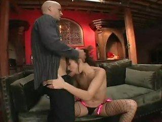 Katsumi shaged 巨大 在 好色之徒 bald 海狸 後 奇妙 cocksuck