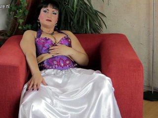 Exotic MILF Pleasuring Together Close To Her Erotic Gash
