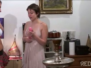 Cute French lesbians lick wet pussy